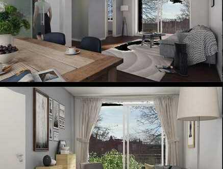 Provisionsfrei - 4 Zimmerwohnung mit Denkmal AfA - Altbau - mit großer Südterrasse 35 qm