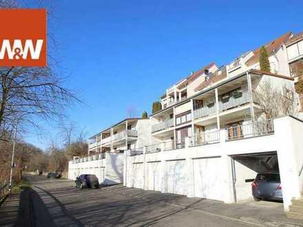 2 Zi.-Wohnung mit Balkon+Garage  unverbaubarer Blick auf die malerische Stadt Bad Mergentheim