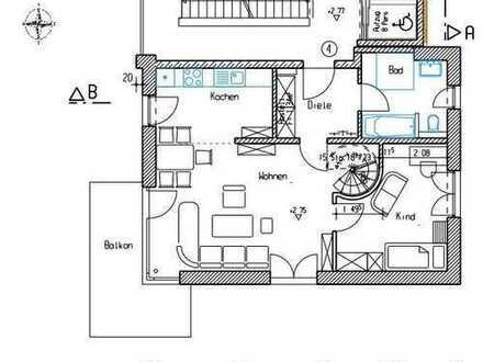Ruhige Neubau-Maisonette-Wohnung nähe Aichach
