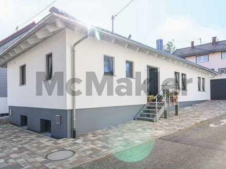 Komfort bis ins hohe Alter: Modernes und barrierearmes Effizienzhaus 70 mit Terrasse nahe Pforzheim