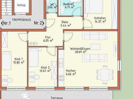 Neubauprojekt Harthausen - Haus 1 - Wohnung 2