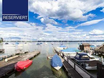 +RESERVIERT+ Rarität - Badehütte mit großem Steg in Tutzing am Starnberger See zu mieten