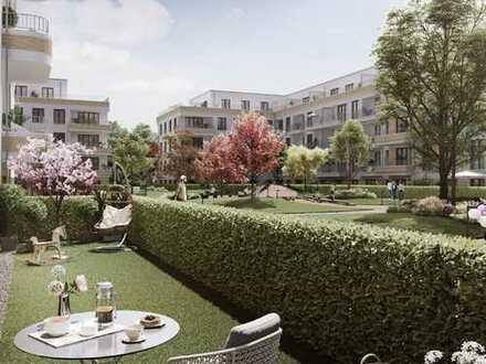 Ruhige Terrassenwohnung mit eigenem Privatgärtchen in der Cité Foch