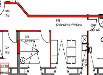 Provisionsfrei! Erstbezug nach Renovierung! Schöne 3 Zimmerwohnung zu vermieten!