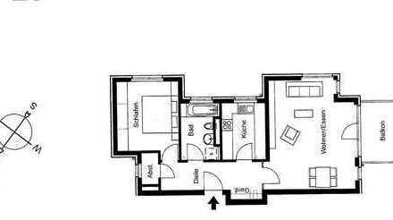 2-Zimmer-Wohnung mit Balkon in Tübingen/Österberg
