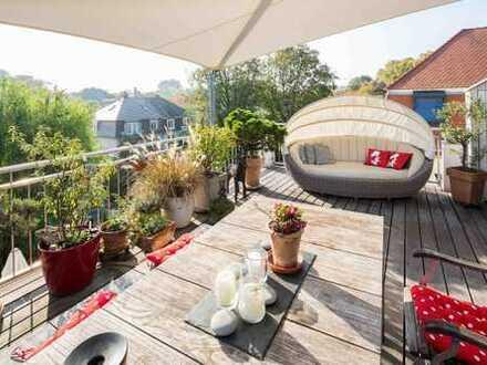 Penthouseflair am Neckar - RESERVIERT - Dach-Maisonette mit traumhafter Dachterrasse!
