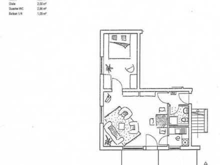 2 Zimmerwohnung im 2. OG in der Wohnanlage Falkenstein