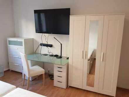 Frankfurt-Offenbach: 19m² Doppelbett-Zimmer voll möbliert / 19sqm Double-bed apartment room complete