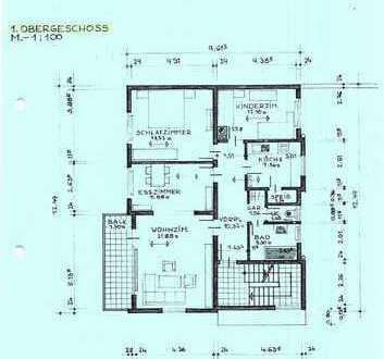 980 €, 90 m², 4 Zimmer