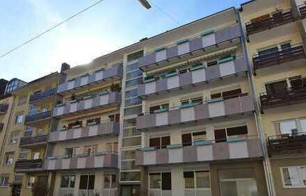 FREI! 1-Zimmerwohnung mit Loggia in zentraler Lage von Mühlburg