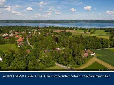 Baugrundstück in Holzhausen am Ammersee. Wohnen wo andere Urlaub machen!