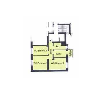 Elegantes WG-Zimmer in 3er Mädels-WG, Citylage, Erstbezug, Einbauküche, Internet-Flatrate, Balkon