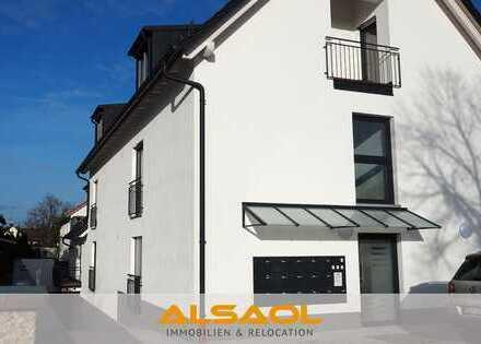 ALSAOL Immobilien: Neubau - schönes 1-Zimmer-Apartment mit Terrasse und Einbauküche!