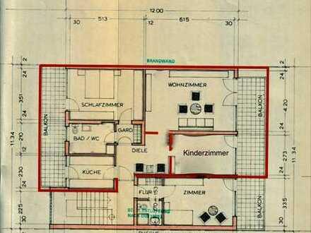 Wunderschöne, kernsanierte 3 Zr. Wohnung mit 2 Balkonen in Bestlage von Freiburg zu vermieten!