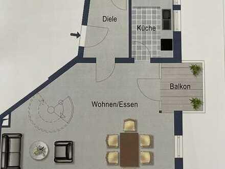 Gepflegte 2,5-Zimmer-Maisonette-Wohnung mit Balkon und EBK in Ehingen (Donau)