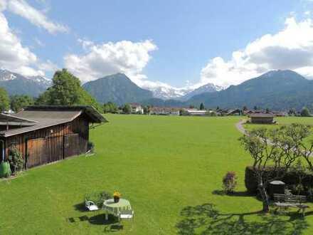 OBERSTDORF Traum Blick über die Wiesen und in die Berge! Großer Süd + Westbalkon