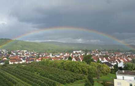 Helle und ruhige 2-Zimmer-Wohnung mit herrlichem Blick auf die Weinberge und Weinstadt!