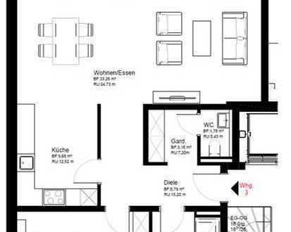Moderne Obergeschosswohnung