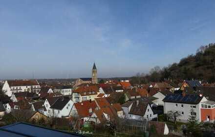 sehr gepflegte Doppelhaushälfte mit herrlichem Blick über Untergrombach und auf den Michaelsberg