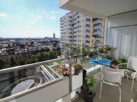 Gepflegte 1-Zi.-Whg. mit Balkon und tollem Ausblick über die Stadt