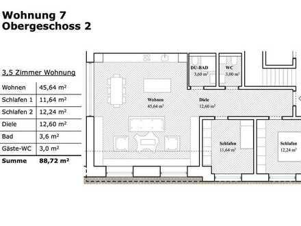 Großzügige 3,5 Zimmer Wohnung mit Garten