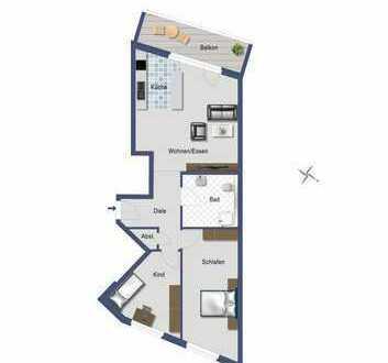 Schöne 3,5 Zimmer mit Süd-West Balkon und Blick ins Grüne
