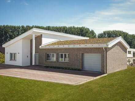 Hemmingen-Arnum: Moderner, neuwertiger Bungalow Architektenhaus in Feldrandlage