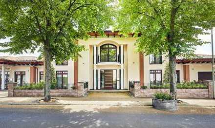 Provisionsfrei! Extravagante Neubau-Villa mit Wohn- u. Gewerbeanteil u. vielen Extras in bester Lage