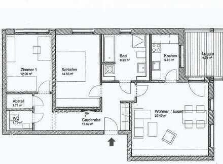 Lichtdurchflutete 3-Zimmer Wohnung