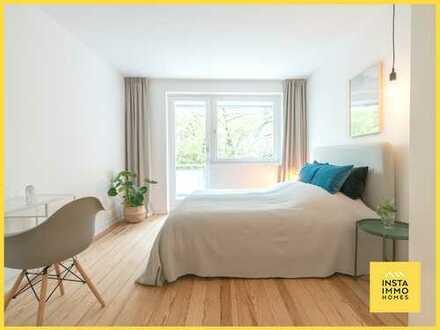Sanierte und möblierte 2-Zimmerwohnung mit Balkon am Osterbekanal (WLAN inkl.)
