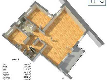 Neubau-Erstbezug: 3-Zimmer-Wohnung mit Balkon, BUS-System, FBH, +++