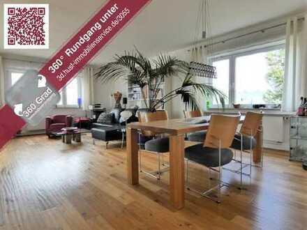 Jetzt Mit 360° Tour! Über den Dächern! Moderne 4-Zimmer-Whg. mit Hauscharakter in Grötzingen!
