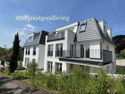 Wohnen im schönsten Haus der Stadt! Exklusive 3,5 Zi NEUBAU Garten Whg mit Fernblick
