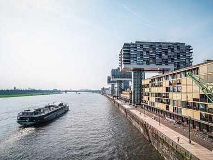 Rheinauhafen, Kranhaus Nord, möblierte 2-Zimmer Wohnung mit Einbauküche im 5. OG