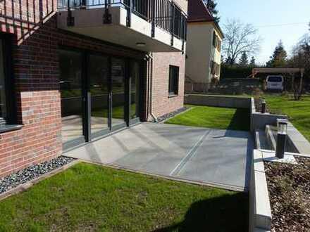 Modernes Wohnen an der Dresdner Heide in großz. 3-Zi.-whg. mit Südterrasse u. Garage in Langebrück