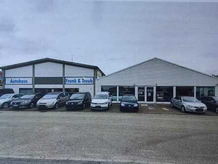Autohaus mit Werkstatt und großer Außenfläche
