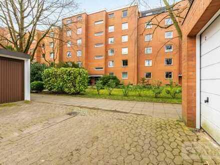 Ricklingen: 96 m² Parterre-Whg. | Tiefgarage & Fahrstuhl | riesige Terrasse | elektr. Rolläden uvm.
