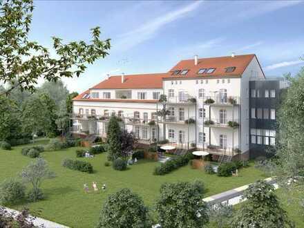 ++LUXUS++ Erstbezug - EG-3-Raum-WE mit Balkon, Terrasse und Gartenanteil, Parkett, TV-Spiegel etc.