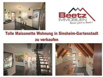 Traumhafte Maisonette Wohnung in Sinsheim zu verkaufen (mit 360° Besichtigung).