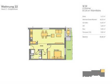 Erdgeschoss, Garten, Terrasse, (Whg 22), Hugo in Katzwang: Besondere 2-Zimmer-Wohnung mit Gart
