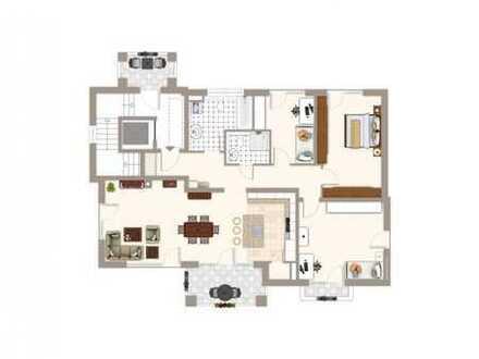 RESERVIERT - Stilvolle 4-Zimmer-DG-Etagenwohnung in kleiner, hochwertiger Anlage