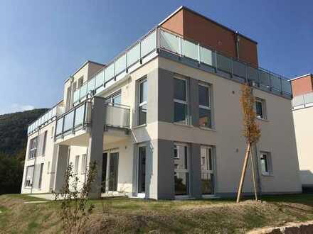 Moderne barrierefreie Neubauwohnung in begehrter Lage in Bad Kreuznach, 92 m², 3 ZKB, EBK,TG, Garten
