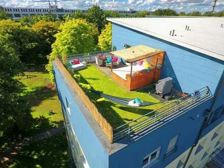 KA-Nordstadt: einzigartige 4- Zimmer-Maisonette mit zwei großen Dachterrassen!