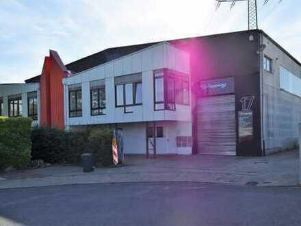 Vermietete Gewerbehalle mit Bürogebäude und Werkstattraum im Neusser Barbarviertel...
