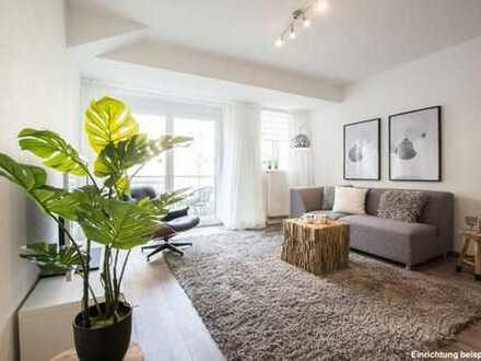 Moderne und gemütliche 2-Zimmer-Wohnung mit Tageslichtbad, Balkon und Einbauküche