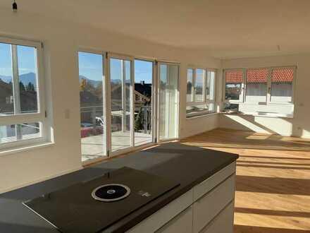 Chieming Chiemsee - Exklusive 3 Zimmer Neubauwohnung mit unverbaubarem See- und Bergpanorama