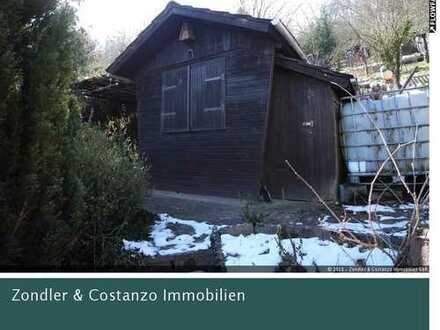 Gartengrundstück mit viel Potential *Holzhaus, Geräteschuppen u.v.m.*