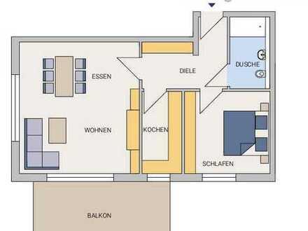 2-Zimmer-Wohnung im OG eines Mehrfamilienhauses (Neubauvorhaben)