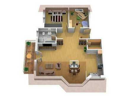 3-Zimmer-Wohnung mit Balkon und 2 PKW-Stellplätzen