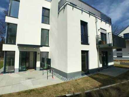 WE27/Hochwertige 2-Zimmer Neubau-Wohnung im Herzen Kraillings mit Balkon, Terrasse und Garten